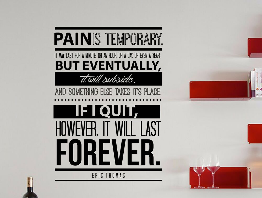 Eric Thomas Quote Inspirational Wall Decal Motivational