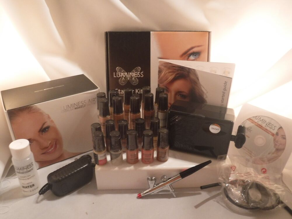 Details about Luminess Air Airbrush System PRO Makeup Artist 3 Speed Black 20pc Makeup Kit