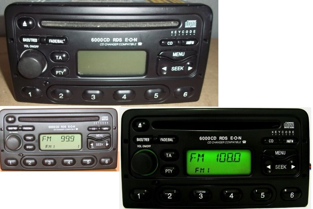 ford autoradio 6000 cd rds mit code focus mondeo fiesta. Black Bedroom Furniture Sets. Home Design Ideas