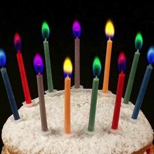 Details About 10 Angel Flames Multi Coloured Birthday Cake Party Magic Candle Novelty Fun
