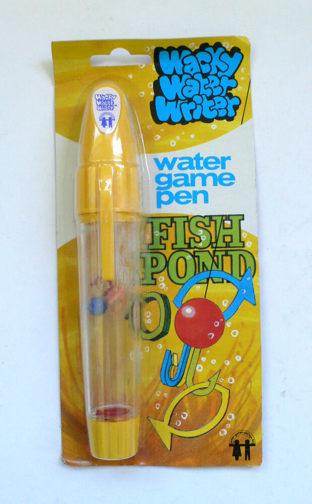 Vintage wacky water writer fish pond water game pen moc for Koi pond game online
