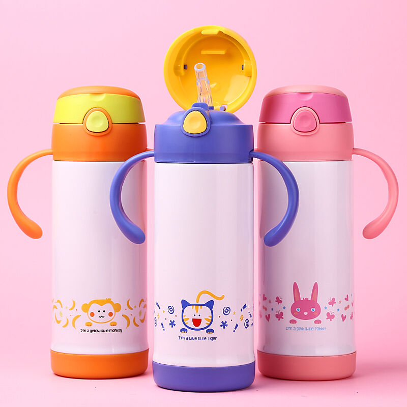 Kids Stainless Steel Thermos Straw Bottle Travel Mug