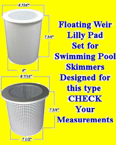 Swimming Pool Replacement Skimmer Weir Float Basket Lilly Pad Float Skim Leaf Ebay