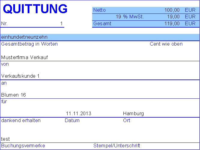 Pc Quittung Quittungsprogramm Mit Journal Ms Excel Ebay