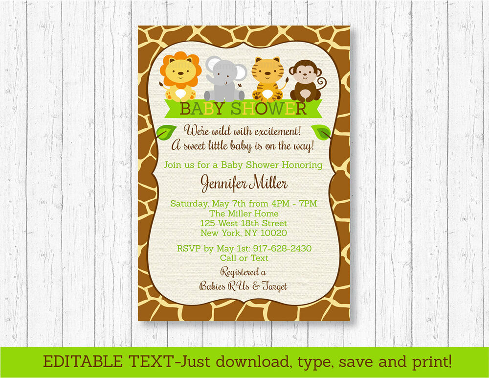 It is a photo of Epic Free Printable Baby Safari Animals