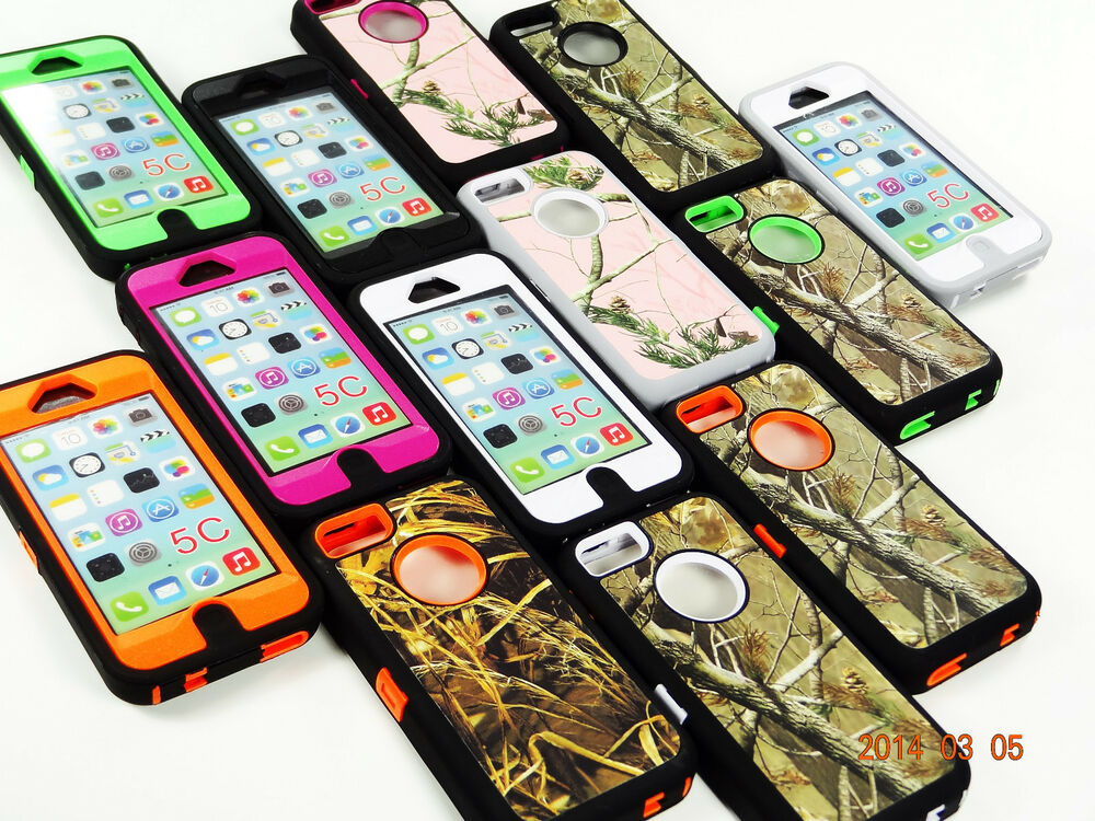 camo hybrid rugged hard case for apple iphone 5c fits
