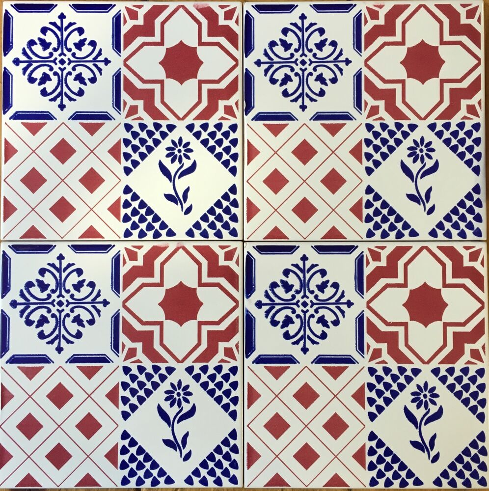 Ceramica vietri patchwork piastrelle 20x20 decorate in - Piastrelle decorate a mano ...