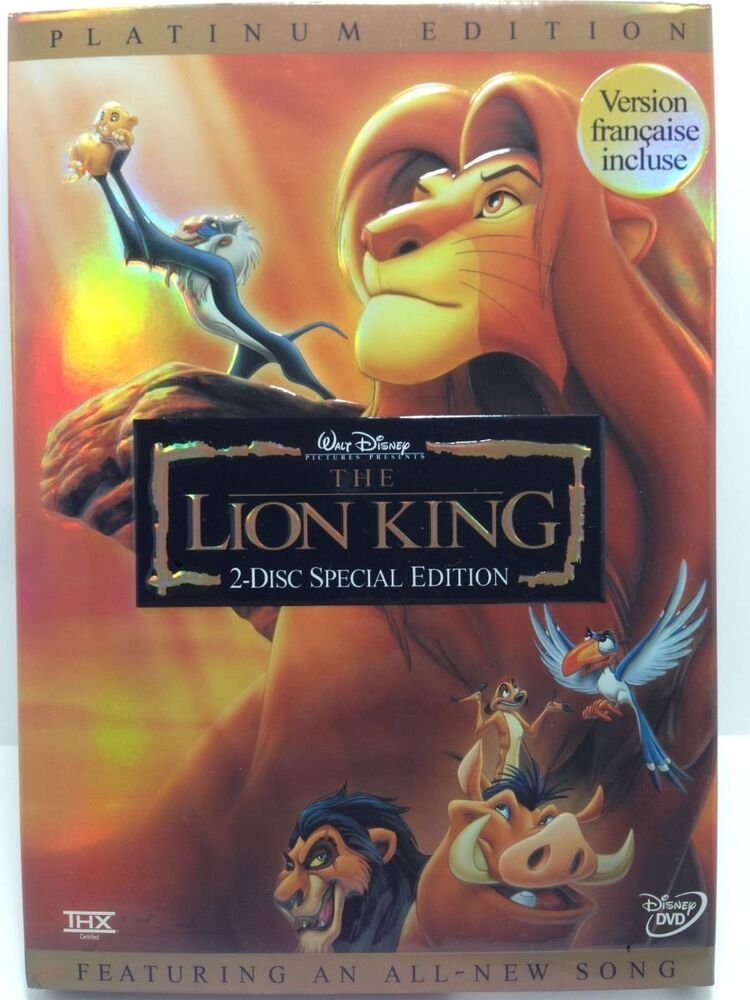 Disney The Lion King Dvd 2003 2 Disc Set Platinum