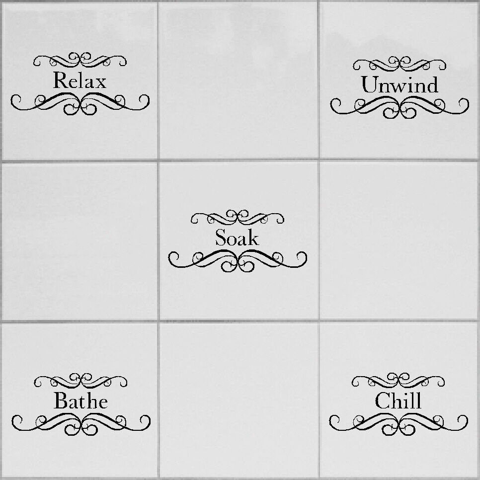 transfers for bathroom tiles tile transfers stickers for bathroom shower toilet fits 21018