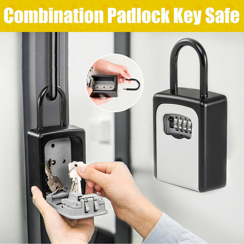 Outdoor Wall Mount Spare Key Safe Box Lock Holder Water