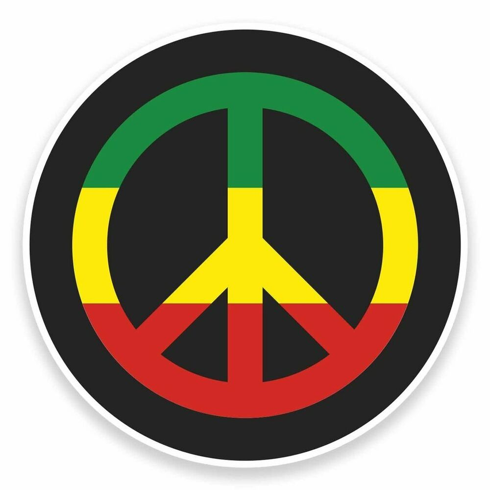 2 x rasta peace symbol jamaica vinyl sticker car travel luggage 9481 ebay