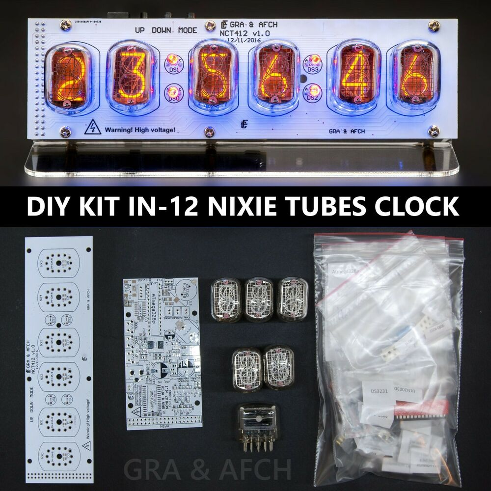 Nixie Tubes Clock In 12 Diy Kit Pcbs All Parts Socket Pin With Tube Schematic Page 1 Ebay