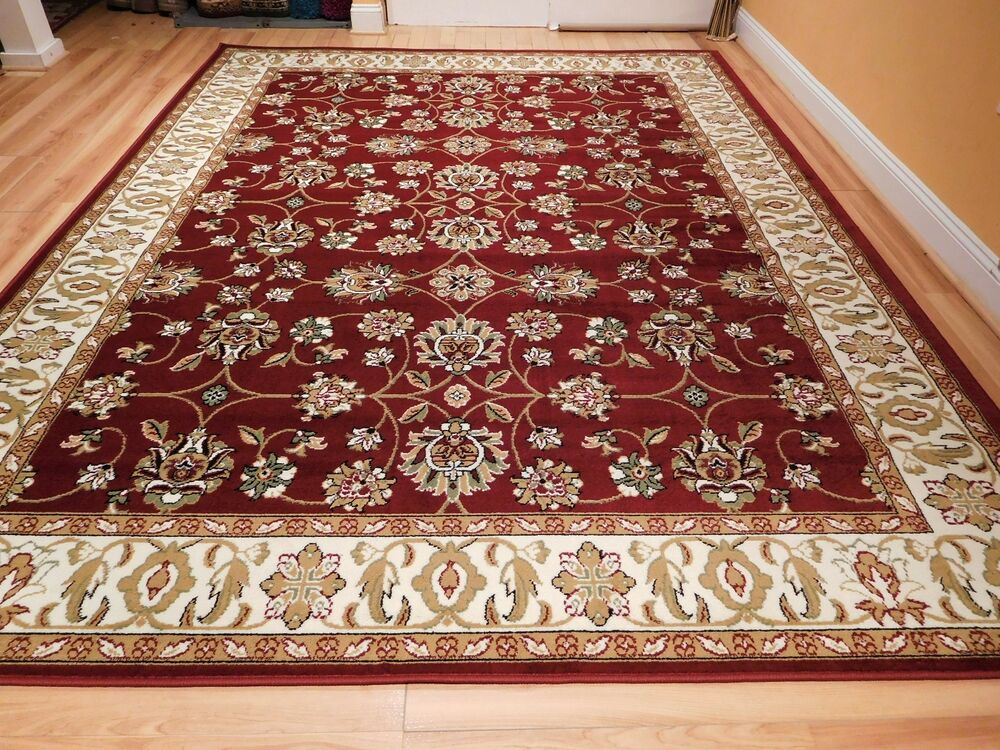 Large traditional 8x11 oriental area rug persian rugs 5x8 - Living room area rugs ...