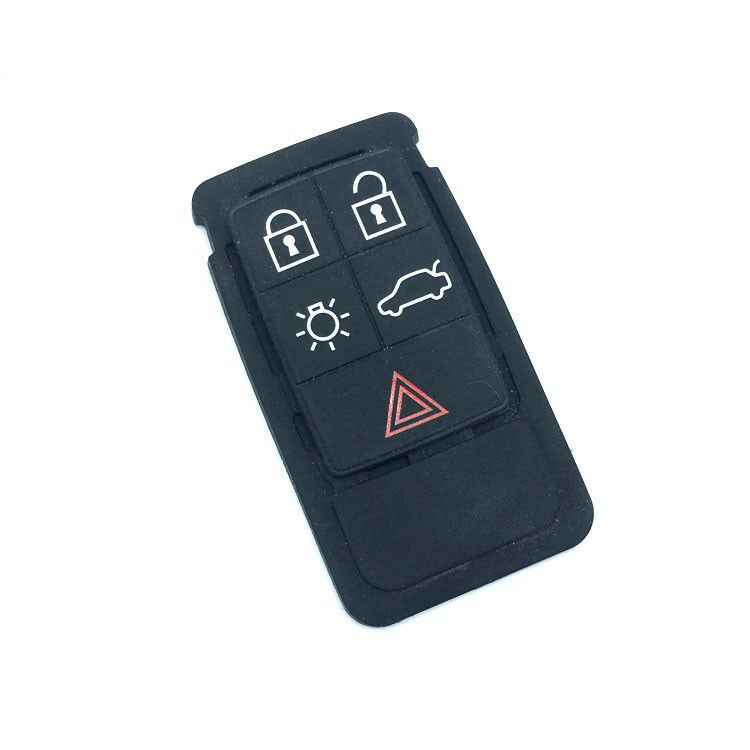 Thick Rubber Car Mats For Volvos40 S60 S80 Xc60 Xc90: Remote Key FOB 5 Button Rubber Pad Replacement For Volvo