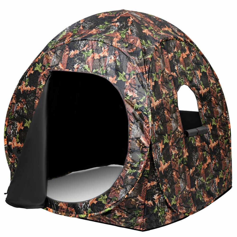 Portable Hunting Blind Pop Up Ground Camo Weather