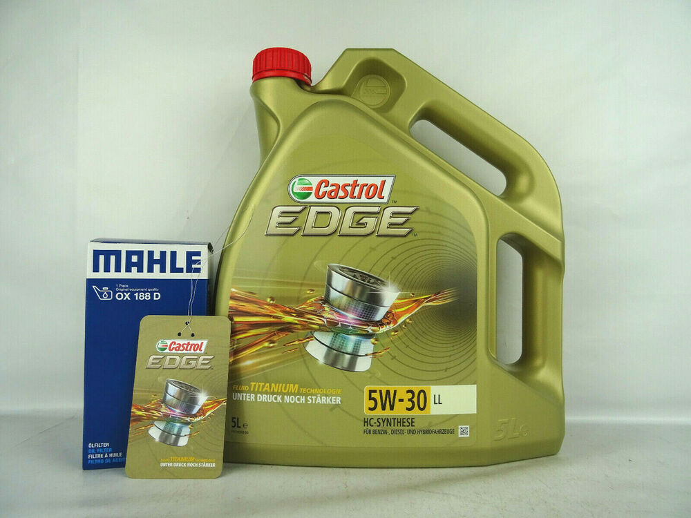 motor l 5w30 5liter castrol l edge ll lfilter mahle. Black Bedroom Furniture Sets. Home Design Ideas