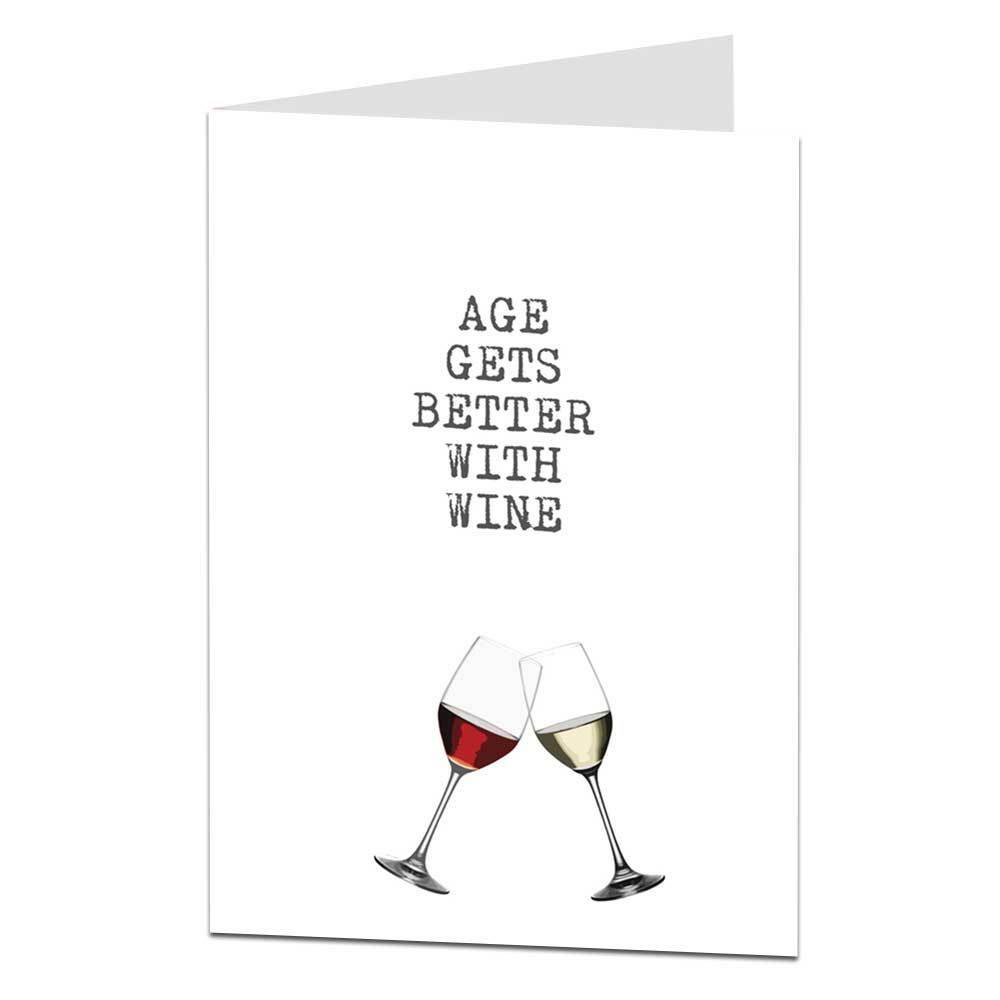 Details About Funny Happy Birthday Card Age Wine Drinker Alcohol Him Her Male Female Mum Dad