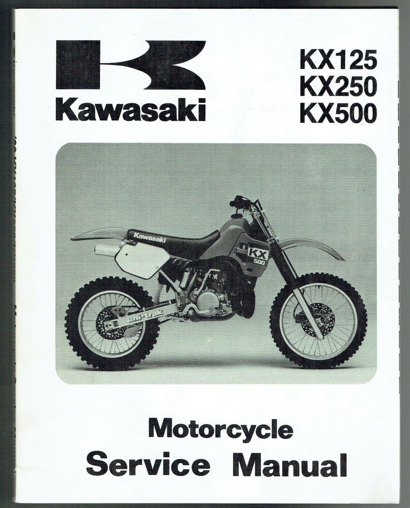 KAWASAKI KX 125 F1 KX 250 F1 KX 500 D1 GENUINE SERVICE MANUAL 1998 NEW  CONDITION | eBay
