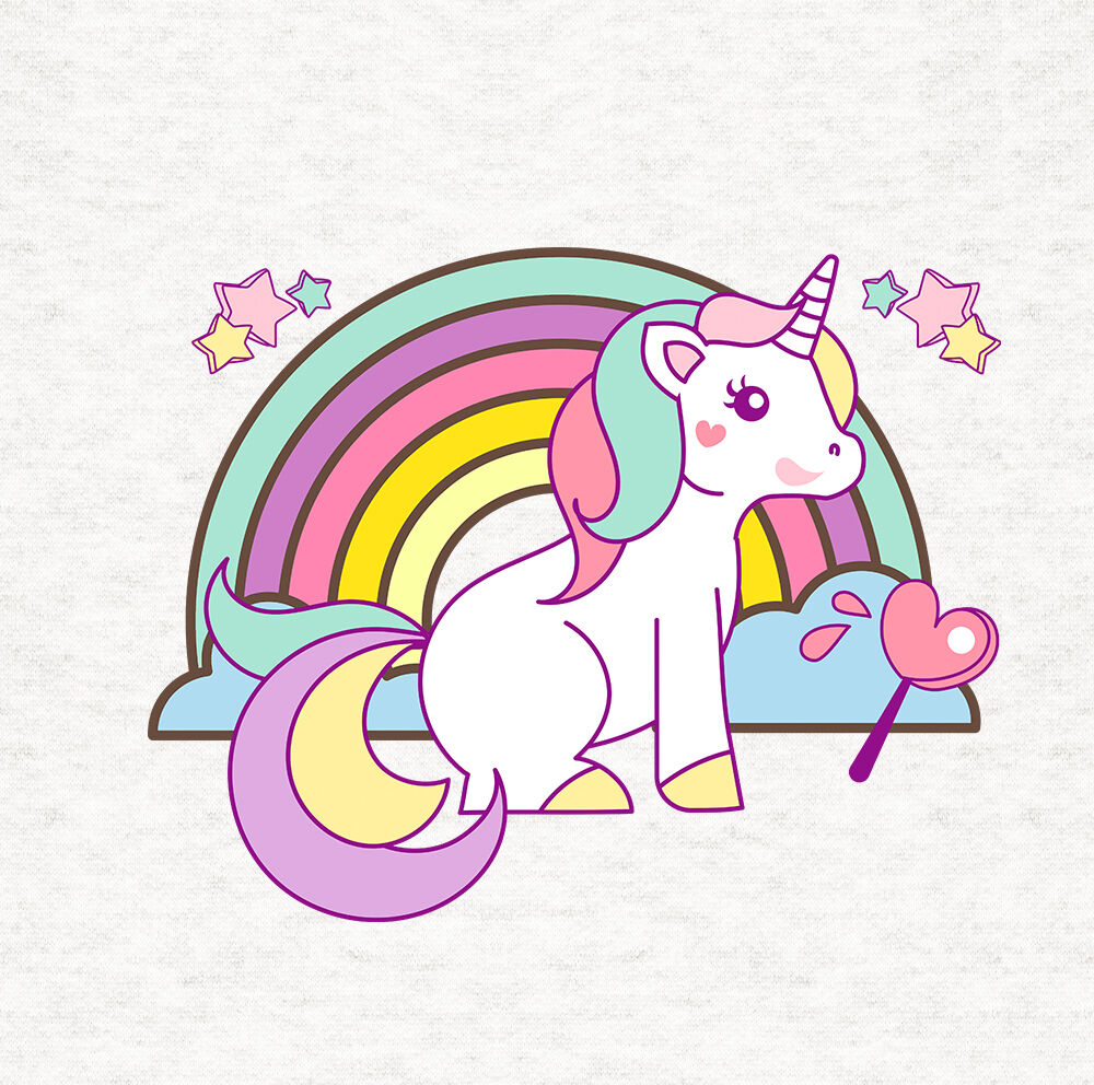 Unicorn And Rainbow Cushion Upholstery Printed Craft