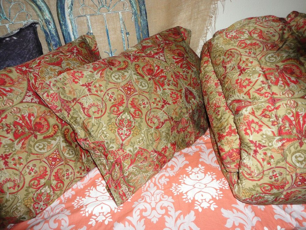 RALPH LAUREN RANDOLPH RED 3PC FULL QUEEN COMFORTER SET RED