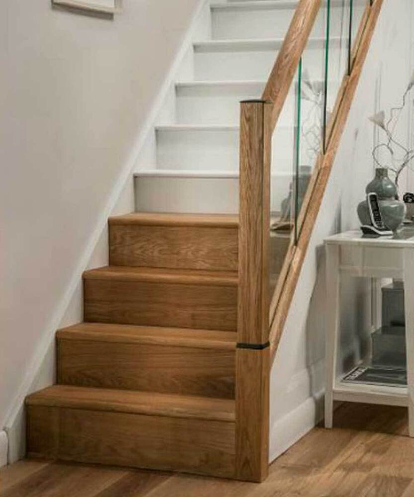 Value Real Oak Stair Cladding Kit 14 Tread Refurbishment