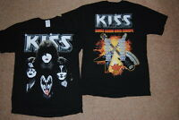 KISS FACES LIGHTNING STRIKES SONIC BOOM OVER EUROPE TOUR T SHIRT NEW OFFICIAL