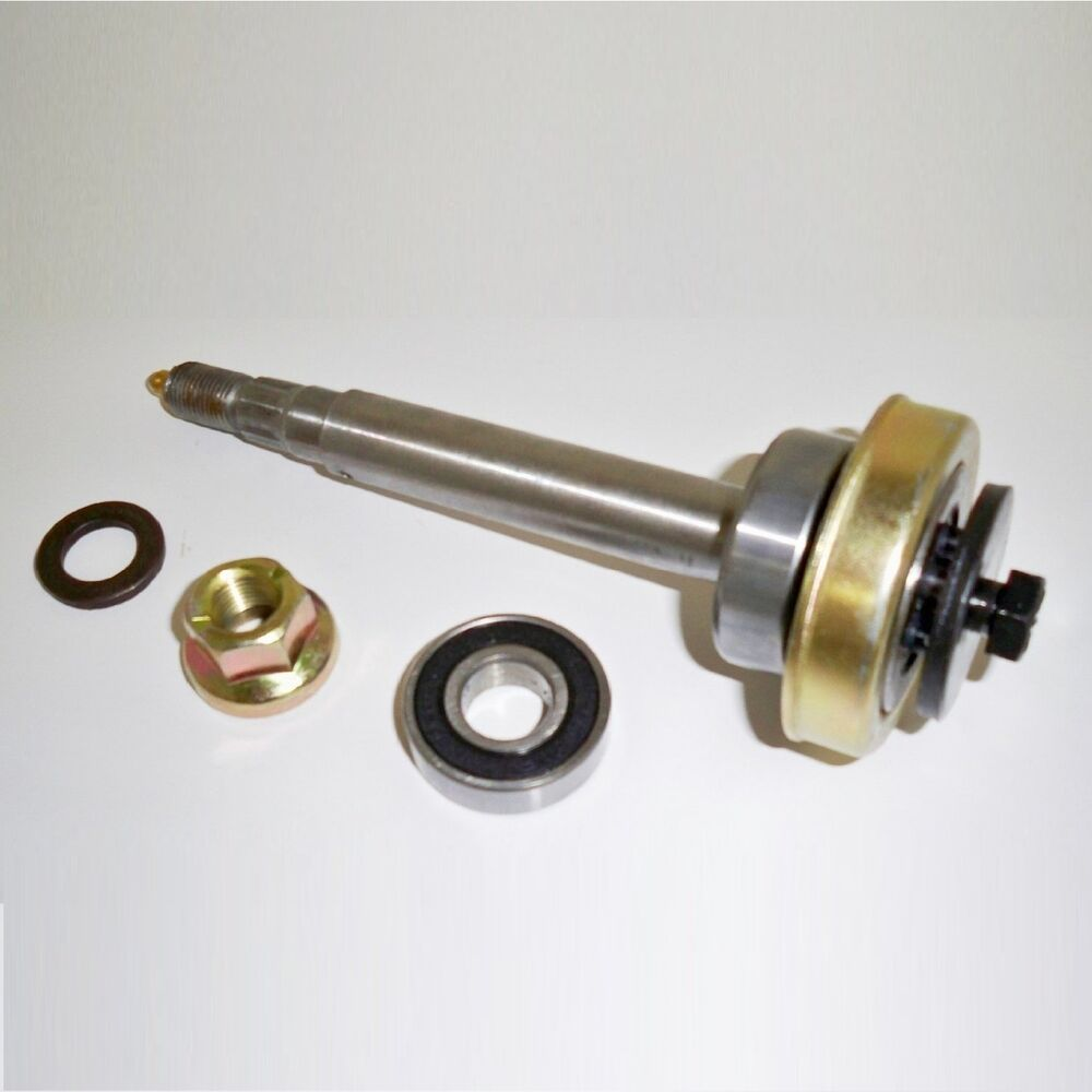 Craftsman Mower Spindles : Deck spindle shaft assembly w bearings blade bolt locknut
