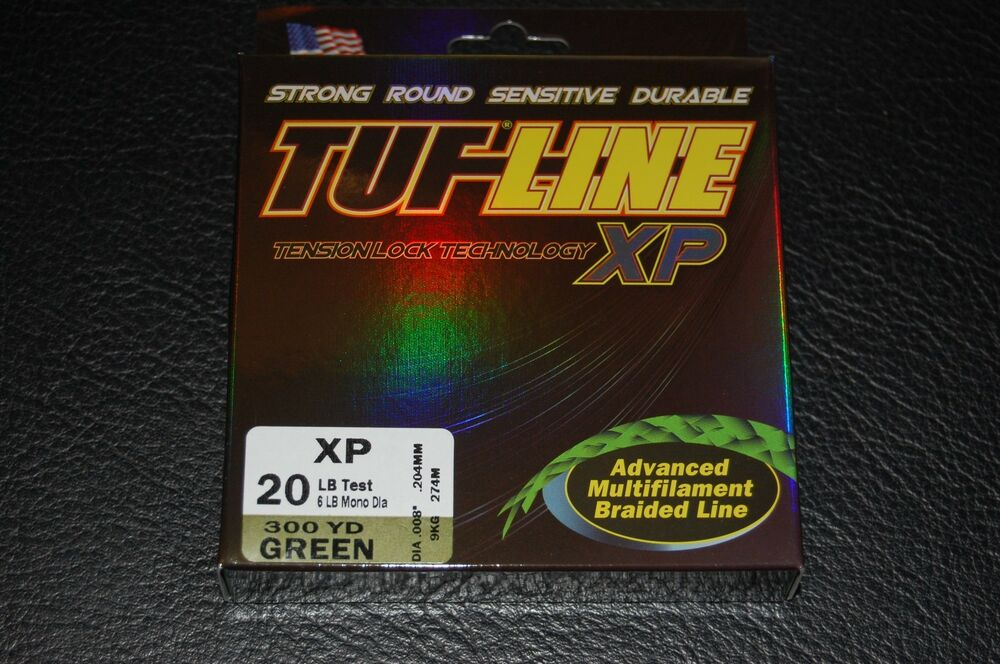 Tuf line xp green 20lb test 300 yard multifilament braid for 20 lb braided fishing line
