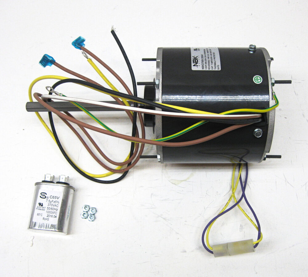 ac air conditioner condenser fan motor 1/3 hp 1075 rpm 230 ... hvac condenser fan motor wiring