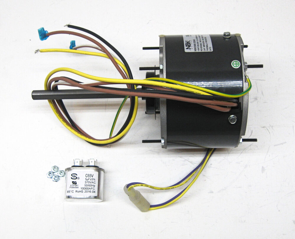 AC Air Conditioner Condenser Fan Motor 1/5 HP 1075 RPM 230