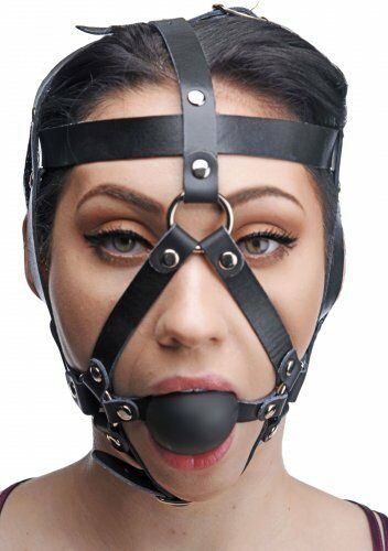 Congratulate, leather bondage face head mask possible tell