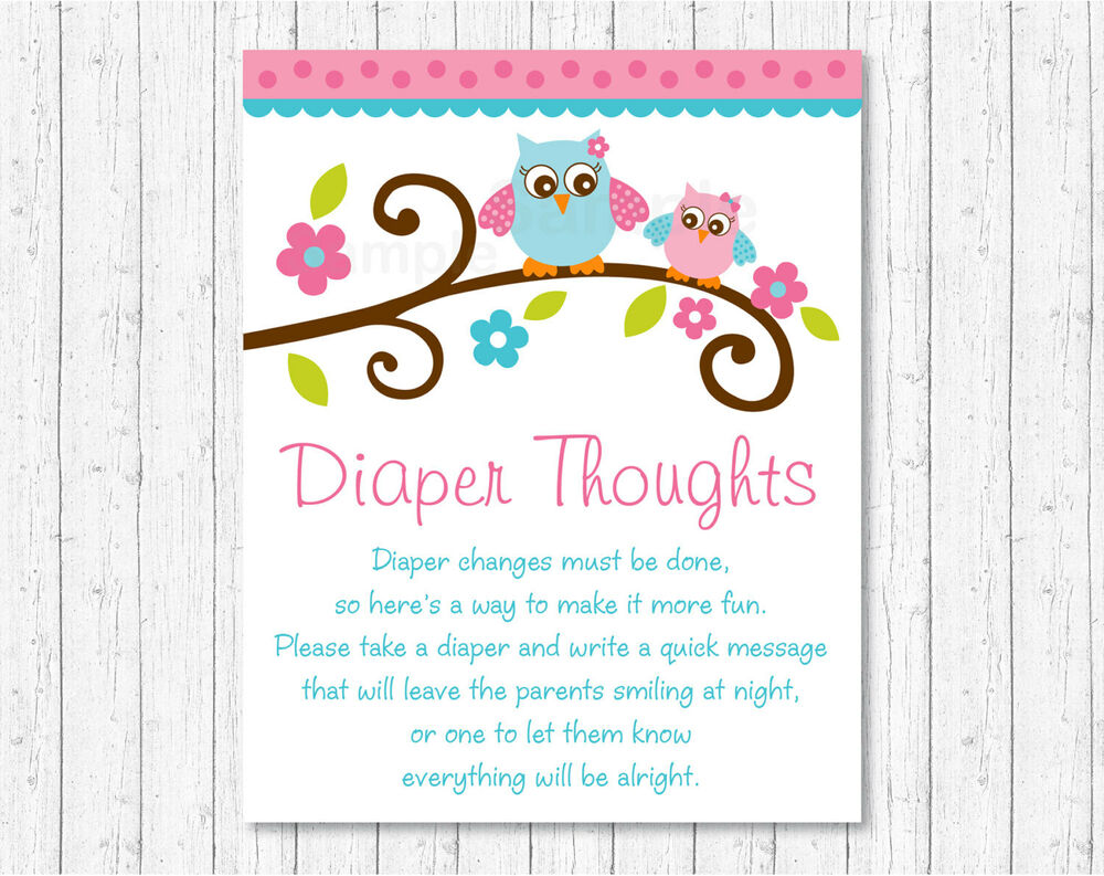 Pink Woodland Owl Diaper Thoughts Late Night Diaper Baby
