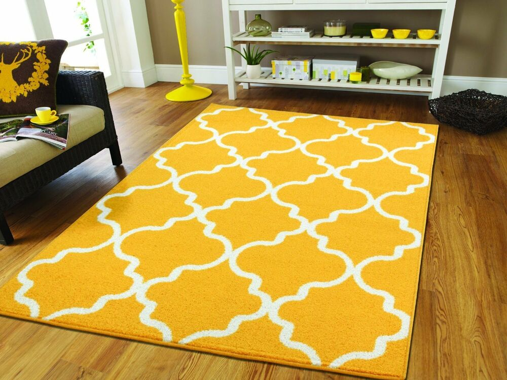 New Modern Area Rugs 8x10 Yellow Moroccan Rug 5x8 Area Rug