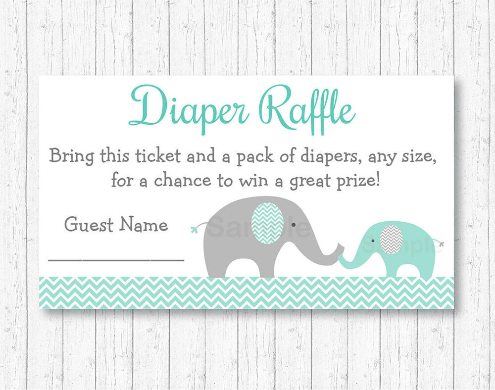 Mint Green Amp Grey Chevron Elephant Printable Baby Shower