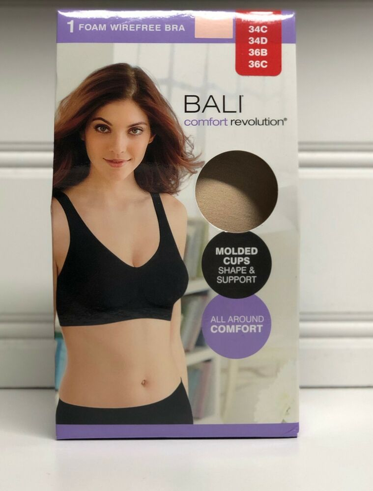 Bali By Hanes Barely There Women S Foam Wire Free Support