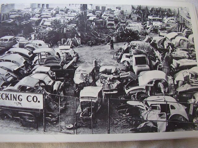 1930 S Junk Yard Ford Chevrolet Buick Packard Etc 12 X 18
