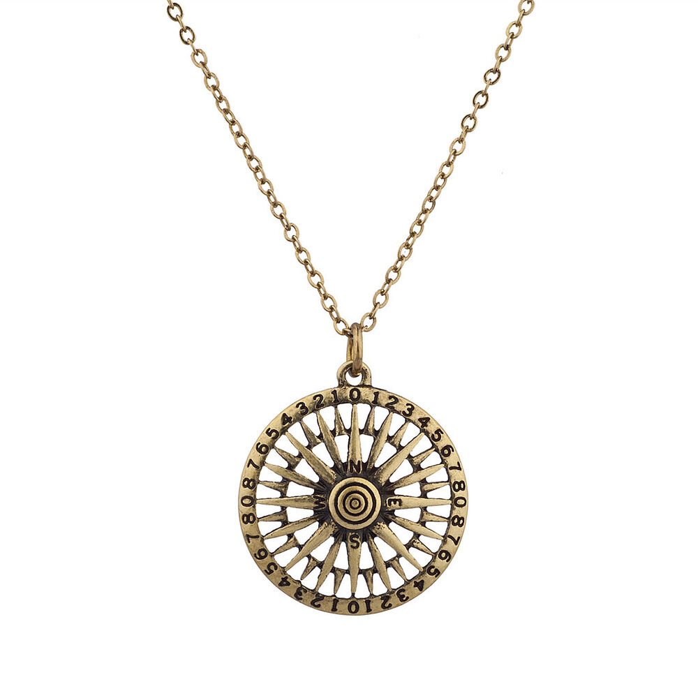 Lux North South East West Tribal Antique Compass Pendant ...