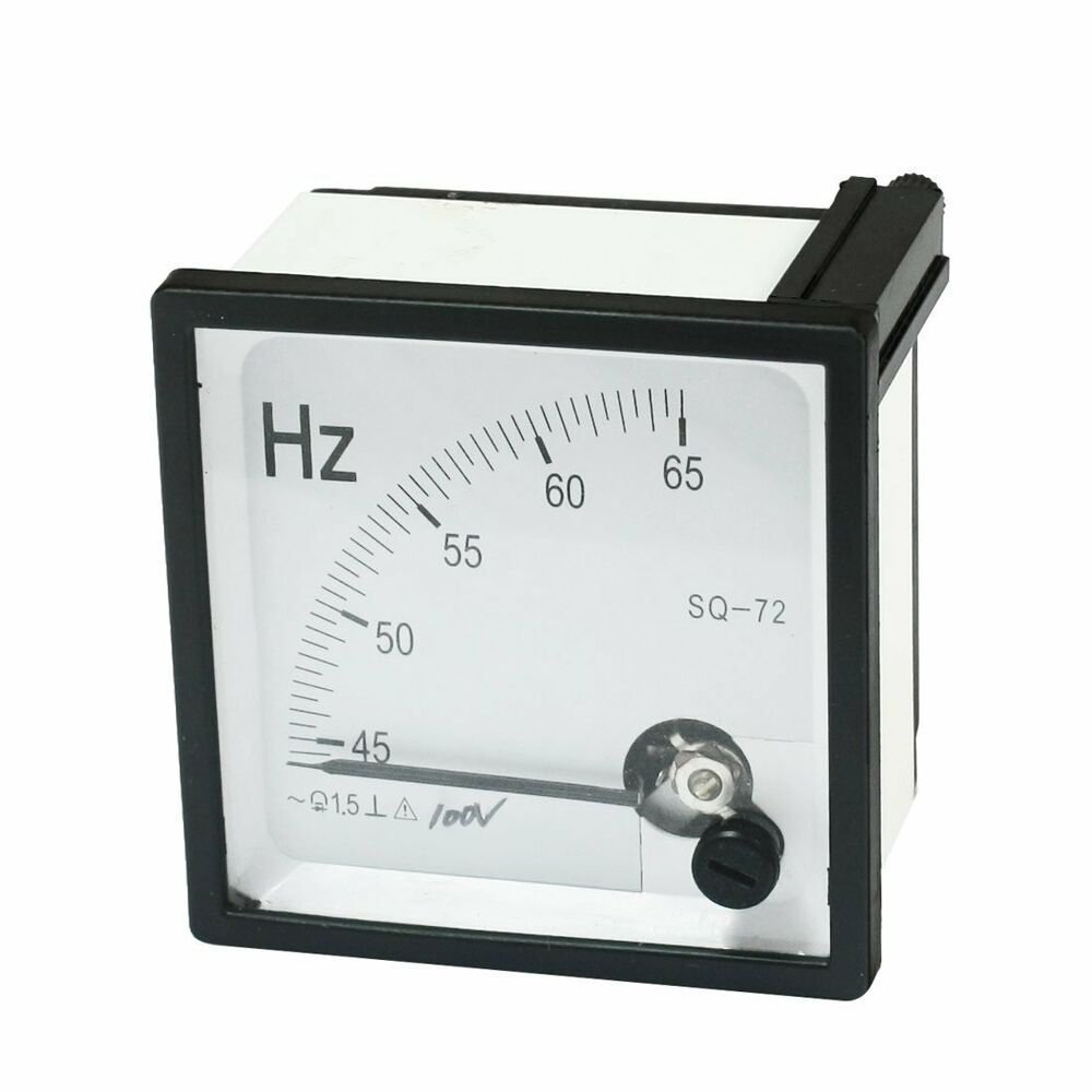 Ac Frequency Meter : Hz frequency ac v analog panel meter accuracy