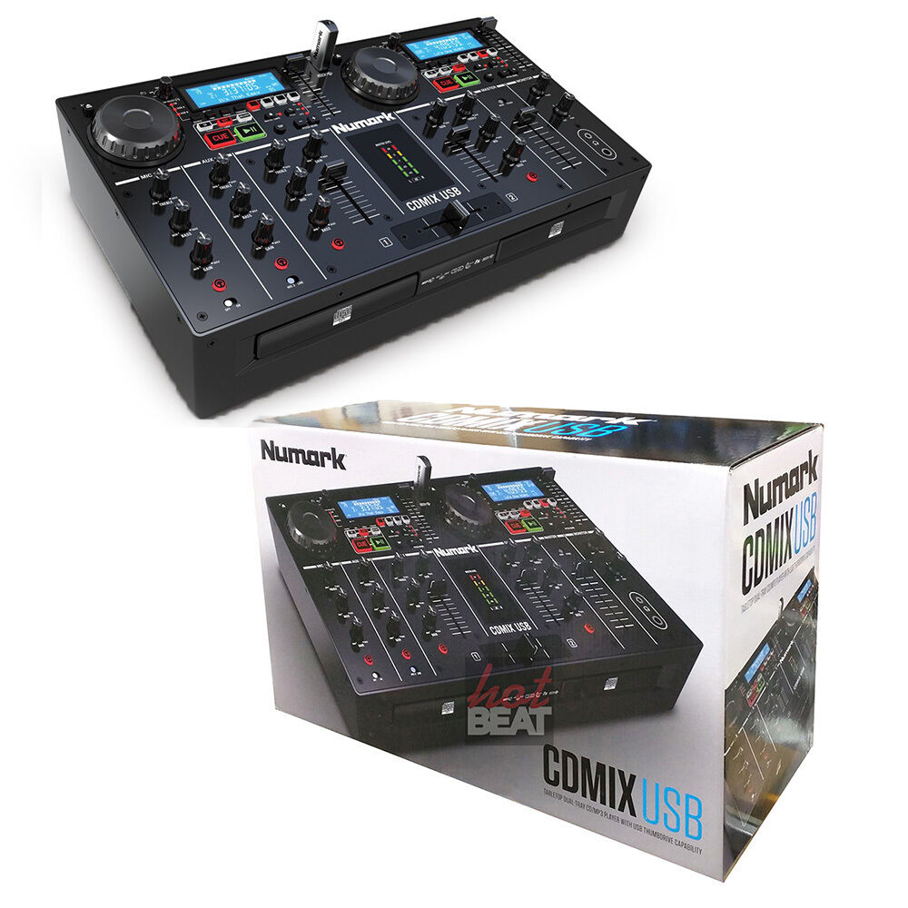 pnumark cdmix usb dual cd media player 2 ch mixer dj. Black Bedroom Furniture Sets. Home Design Ideas