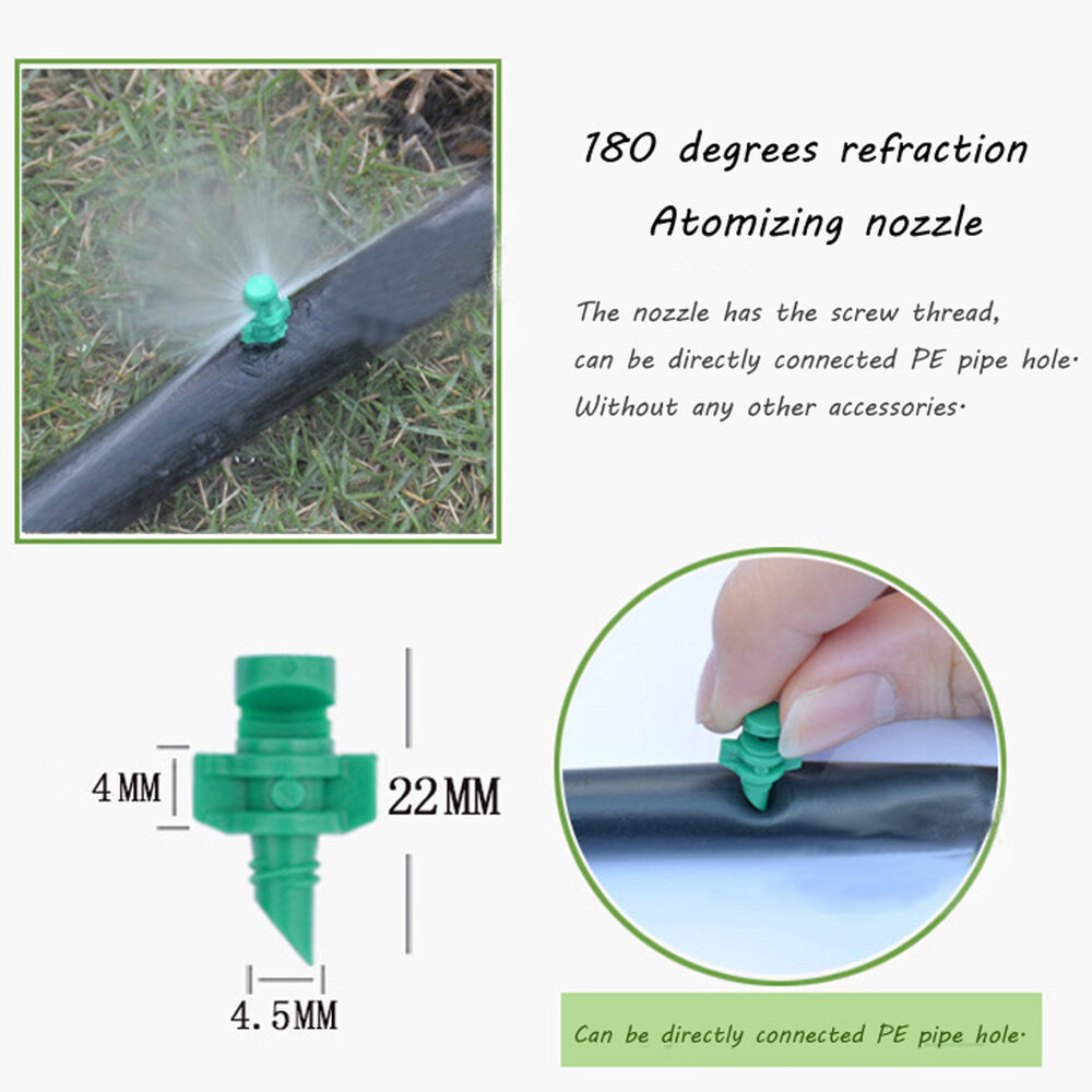 Micro degree garden spray misting nozzle sprinkler