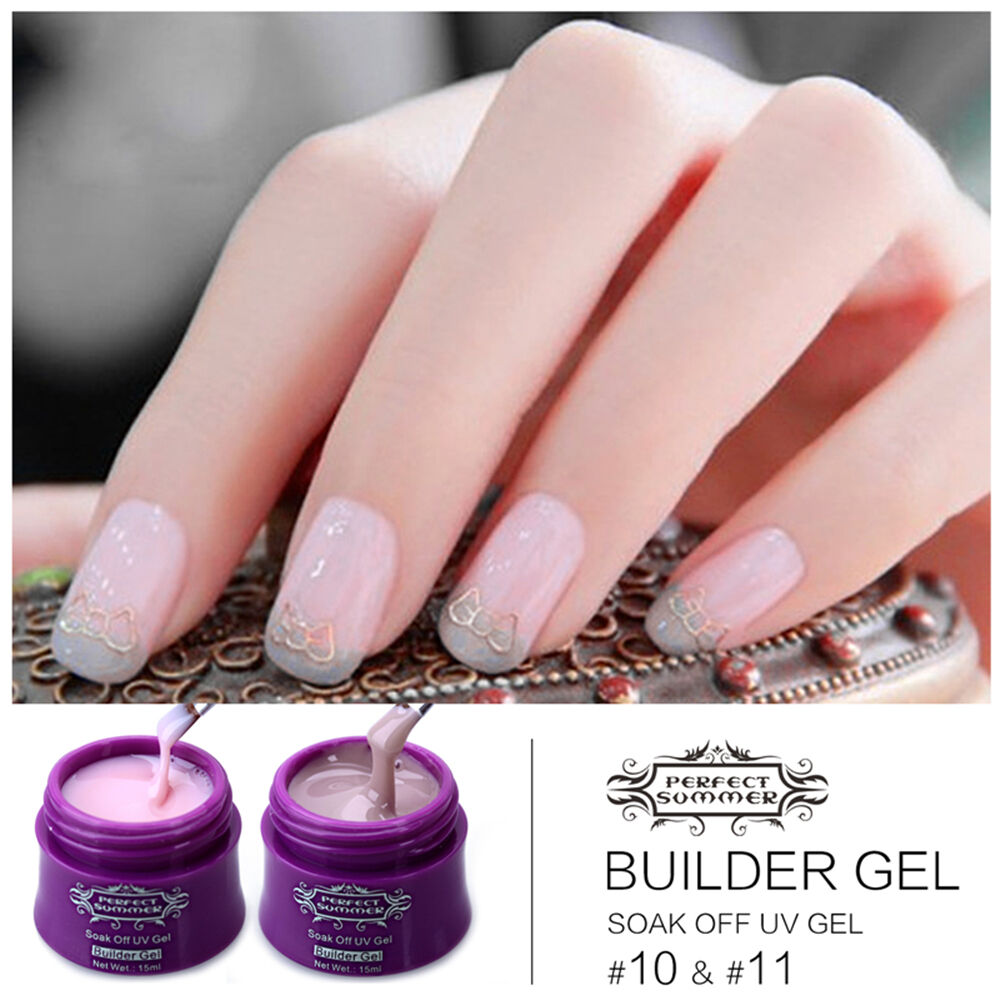 Gel Nail Polish Colors: 14 Color Nail Art Builder UV GEL Extension Tip Gel Polish