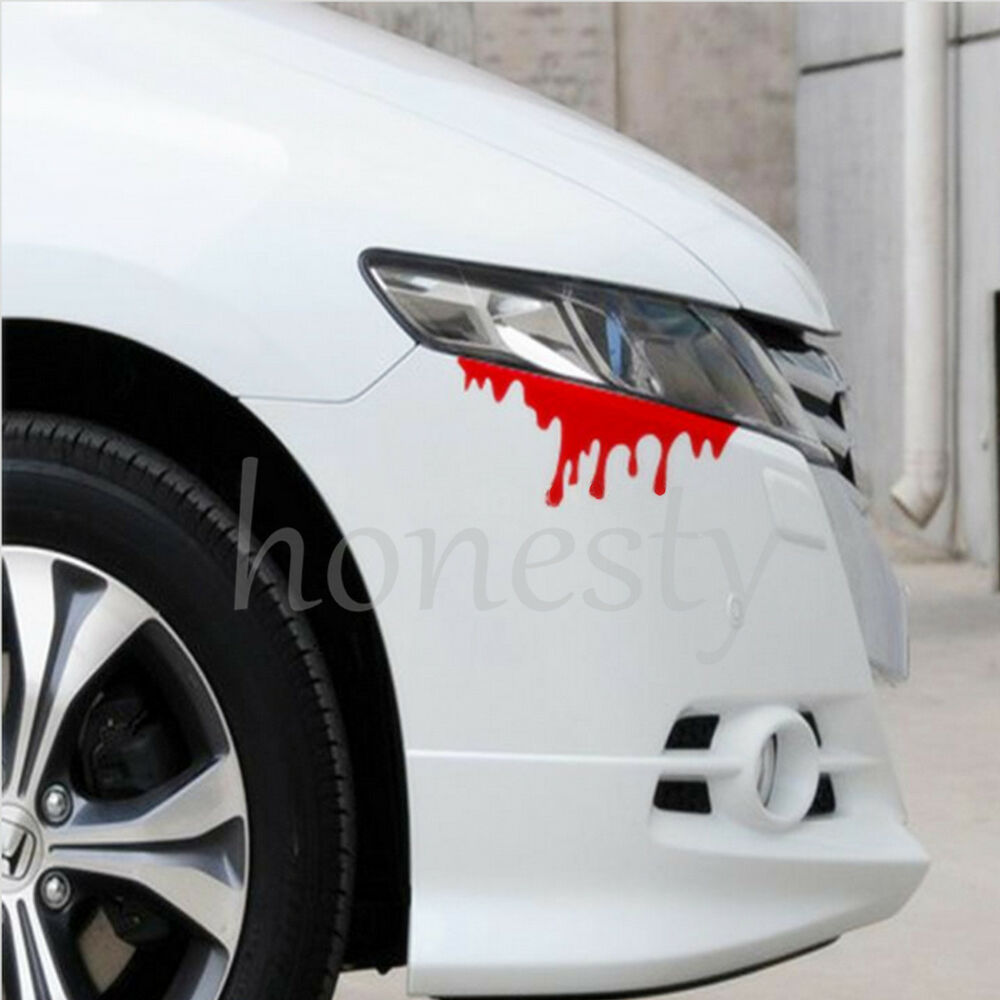 Blood Flowing Vinyl Funny Car Decal Window Truck Auto