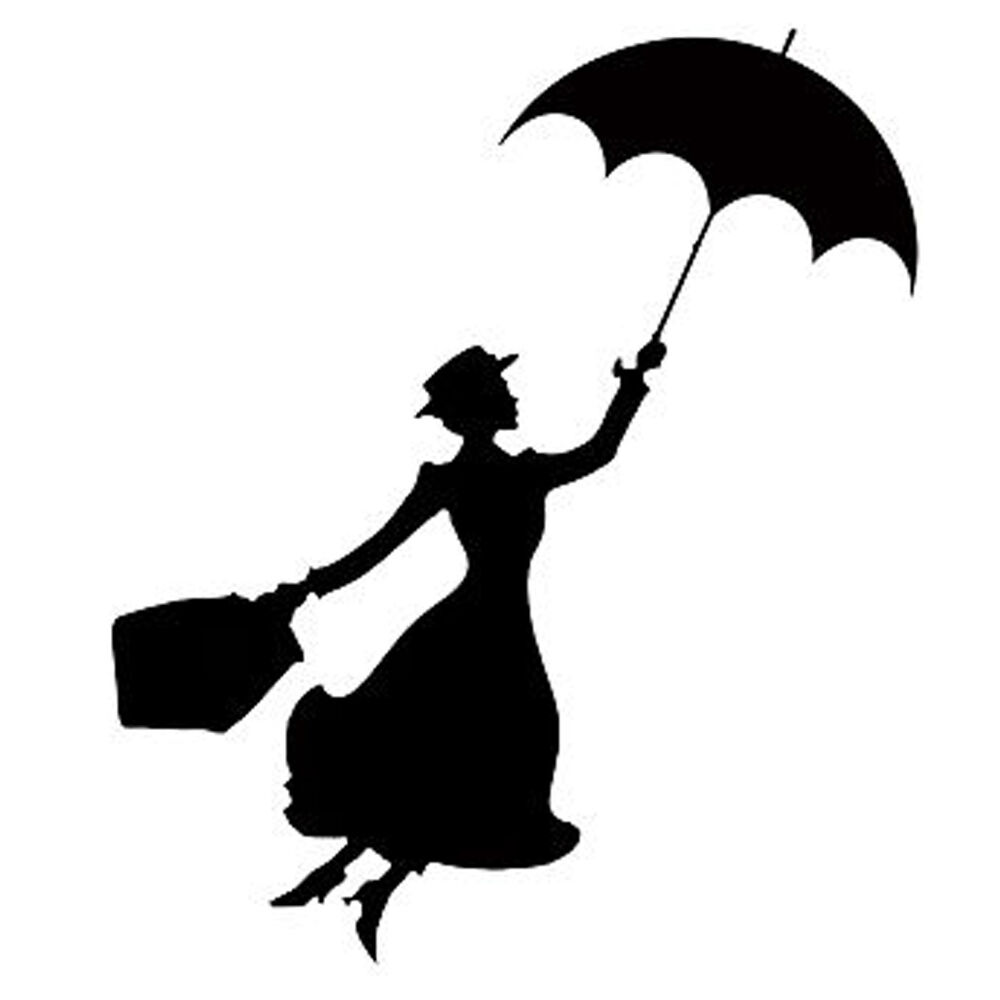Mary Poppins Sticker Vinyl Decal Car Auto Laptop Window