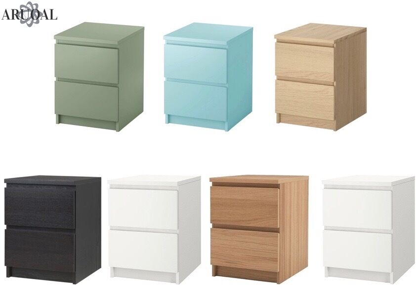 Ikea Malm Chest Of 2 Drawers Bedside Table Various