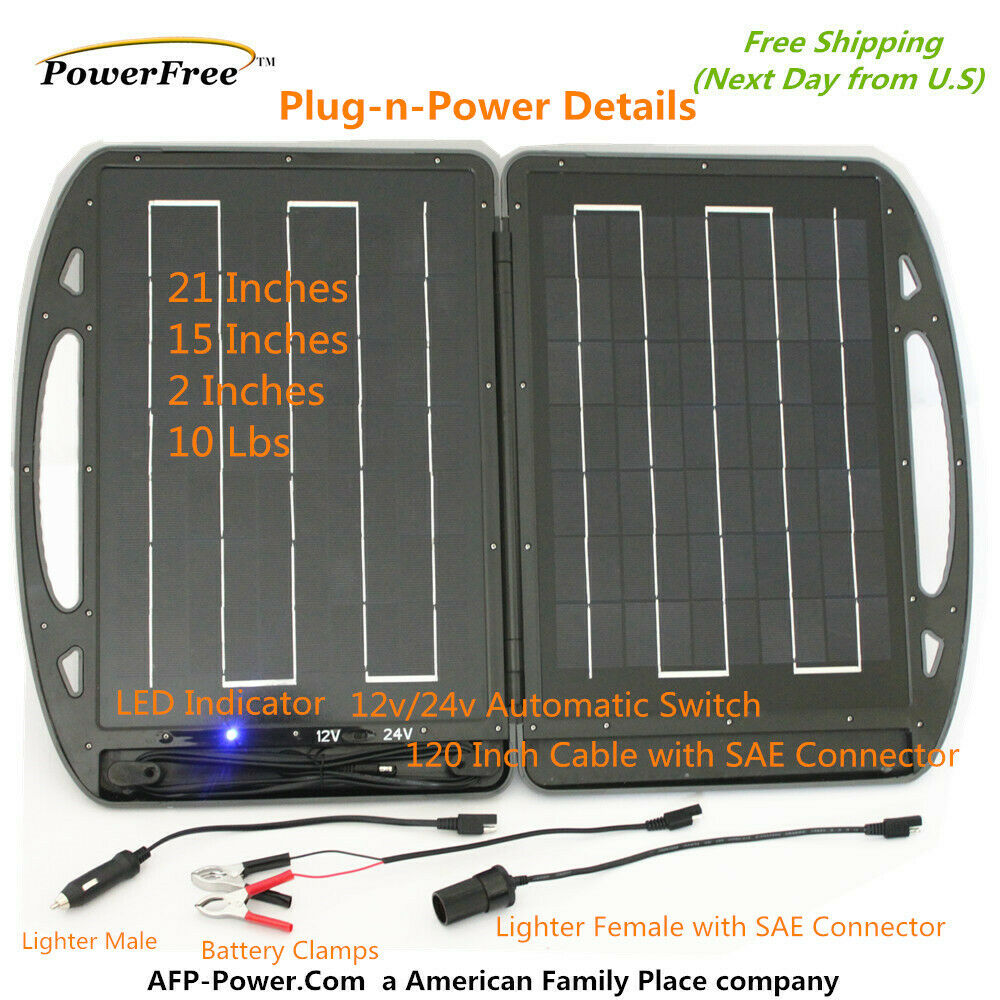 13w 13 Watt Foldable Solar Charger Briefcase Portable