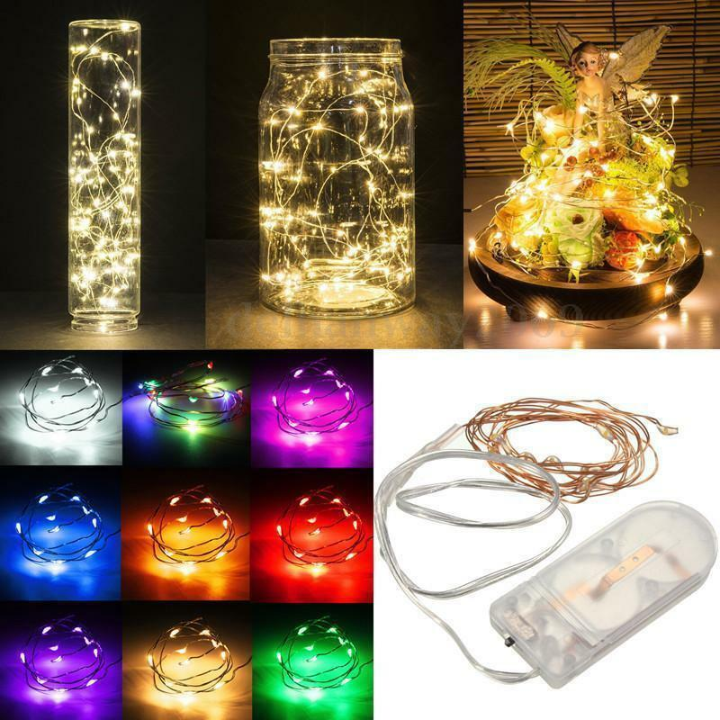 String Lights With Battery: LED Battery Operated Mini LED Copper Wire String Fairy