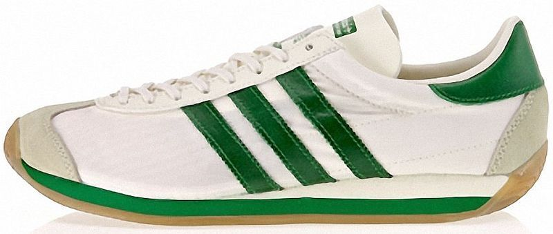 ADIDAS COUNTRY OG White-Green-Gum nylon-suede old school ...