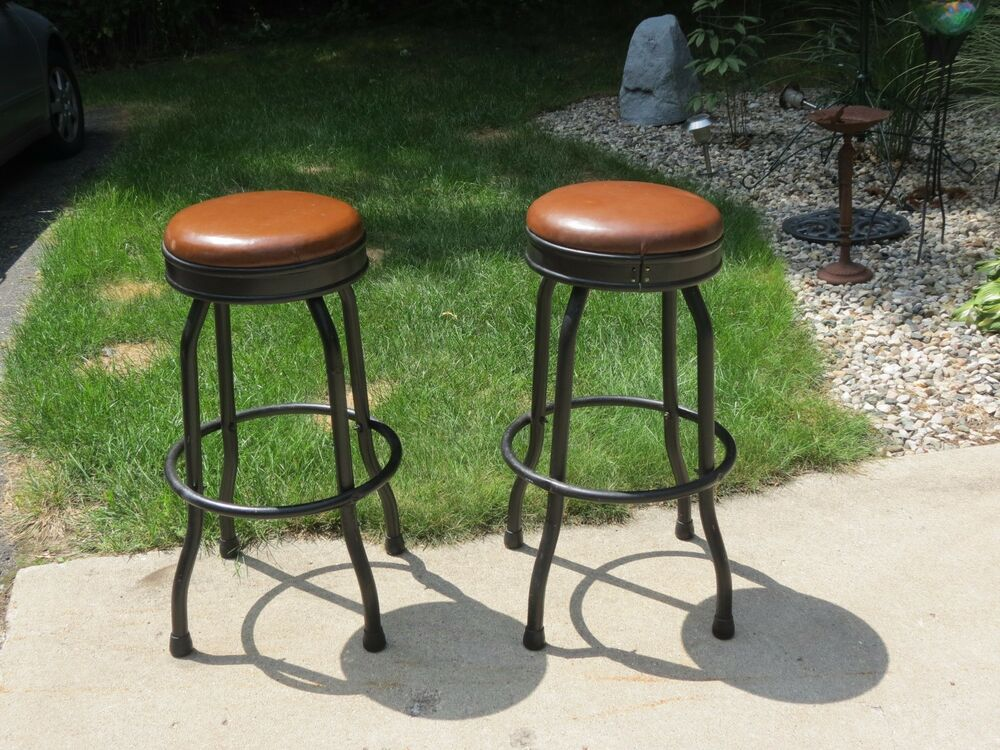 vintage bar stool vintage pair mid century 30 quot swivel bar shop stools 360 3162