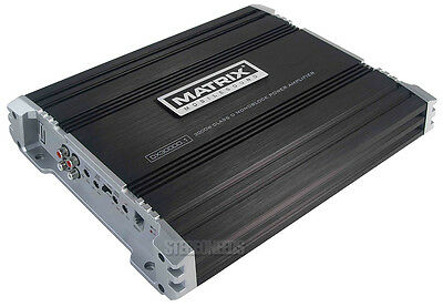 MATRIX 3000 WATT CLASS D MONOBLOCK CAR STEREO AMP MONO SUB SUBWOOFER AMPLIFIER