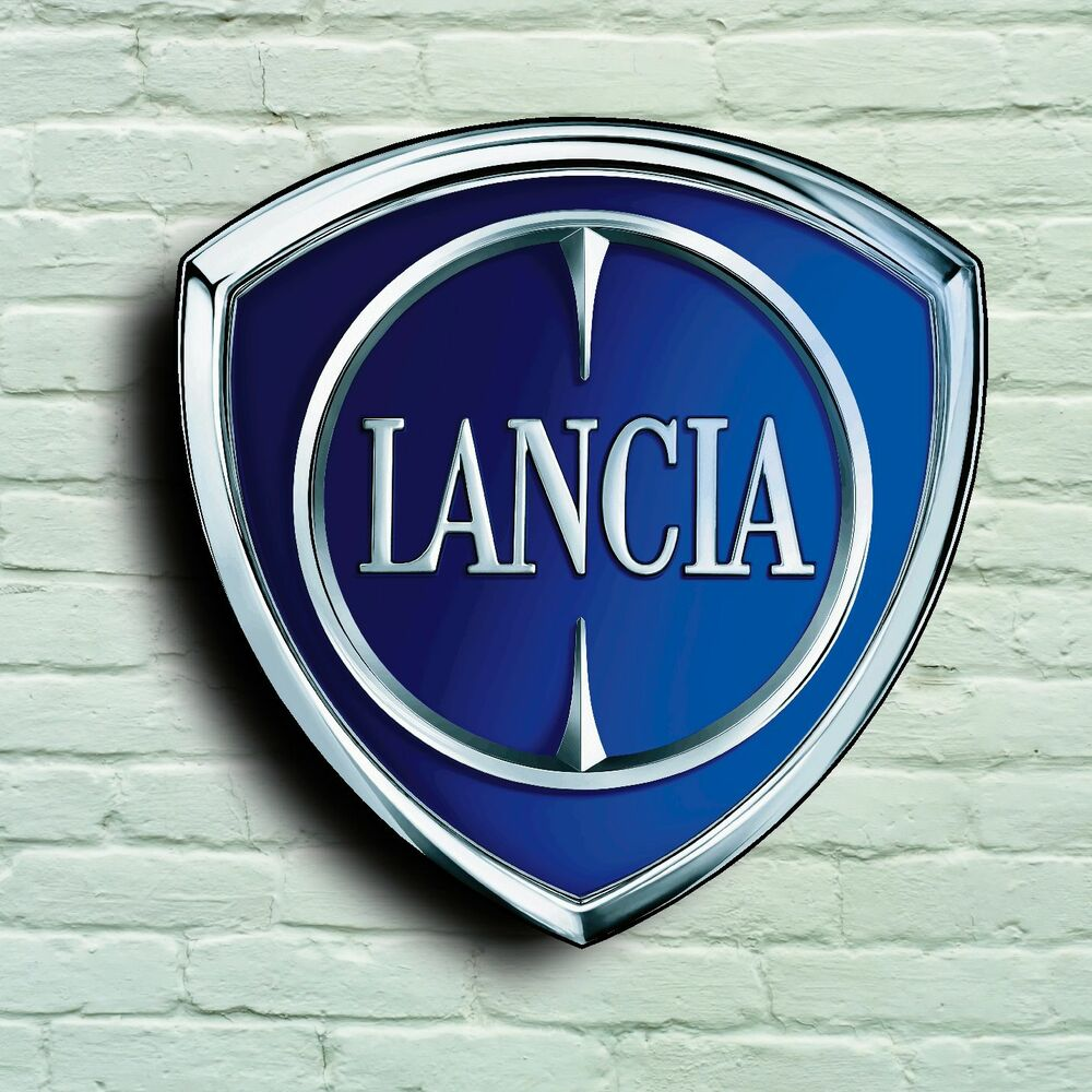 LANCIA BADGE LOGO 2FT GARAGE SIGN WALL PLAQUE CAR CLASSIC
